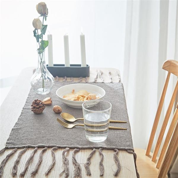 Nuovo design American INS tovagliolo Pad tavola decorazione forniture 100% cotone tappetini isolati Europa Style Nappa lavorato a maglia tovagliolo 40 * 50 cm