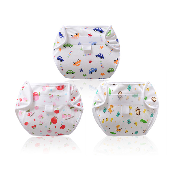 Newborn Baby Diaper Washable Underwear Monolayer Breathable Cotton Reusable Diapers Adjustable Nappy
