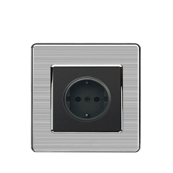 stainless steel EU standard wall socket and 16A Germany standard wall outlet