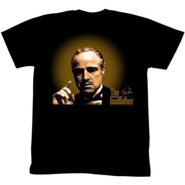 Крестный отец мужская с коротким рукавом футболка черный светящийся и показывая мужская Lastest мода с коротким рукавом печатных смешные футболки