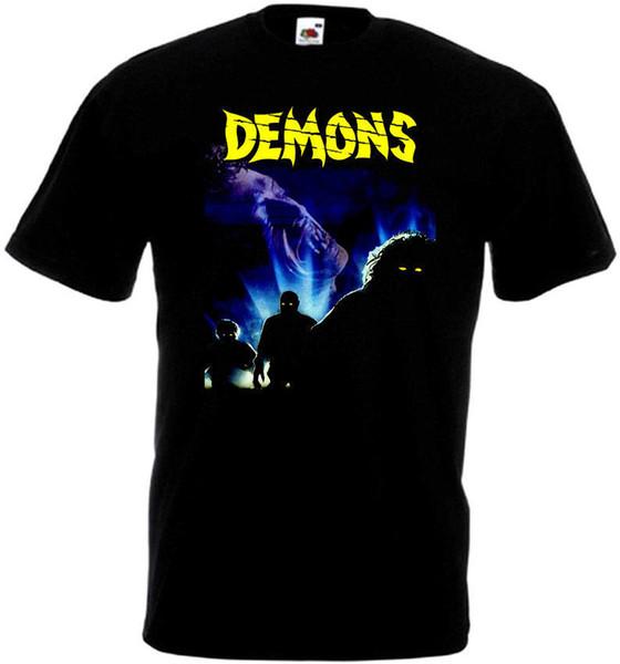 Custom Shirt Printing Crew Neck Short-Sleeve Fashion 2018 Mens Demons V2 T-Shirt Black Poster All Sizes S To 3XL Tees