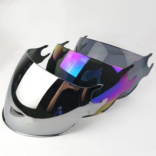 LS2 OF562 open face half motorcycle helmet visor replace sunglasses sliver colorful black extra lens for original LS2 helmets