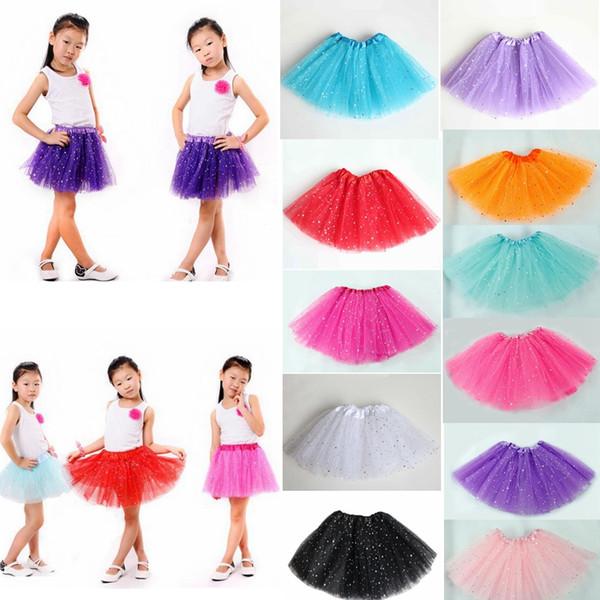 Newborn infant TUTU Skirts Fashion Net yarn Sequin stars baby Girls Princess skirt Halloween costume 11 colors kids lace skirt GGA413 30PCS