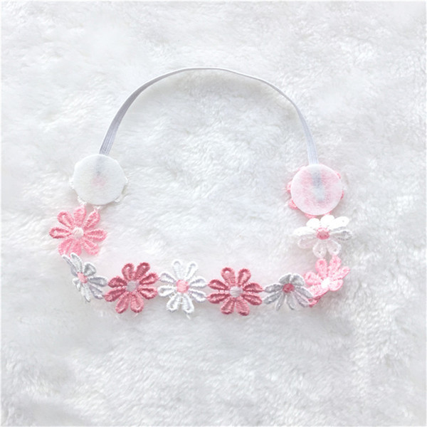 Hot Sale Baby Girl Elastic Hairband Children Hair Wear For Kids Head Band Flower stitching Headband Baby Hair Accessories FK-288