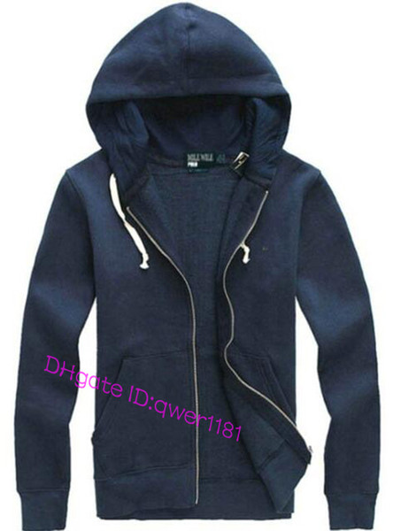 Free shipping Small Horse Embroidery Hot sale Mens polo Hoodies Sweatshirts autumn winter casual with a hood sport jacket men's hoodies