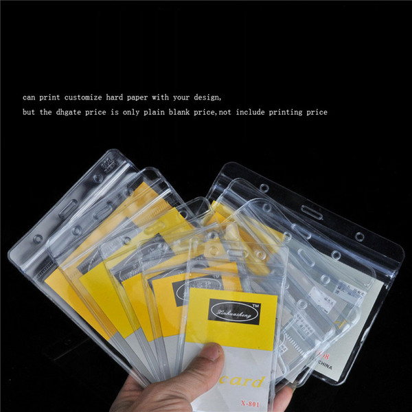 best selling PVC lucency waterproof soft Working Permit Bus Card soft transparency employee's card set Badges Holder print hard paper with your design.