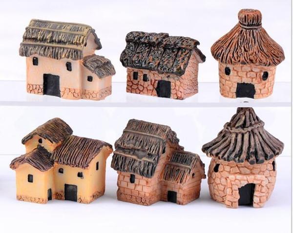 3 cm linda resina artesanía casa hadas jardín miniaturas gnome Micro paisaje decoración bonsai para decoración del hogar envío de DHL