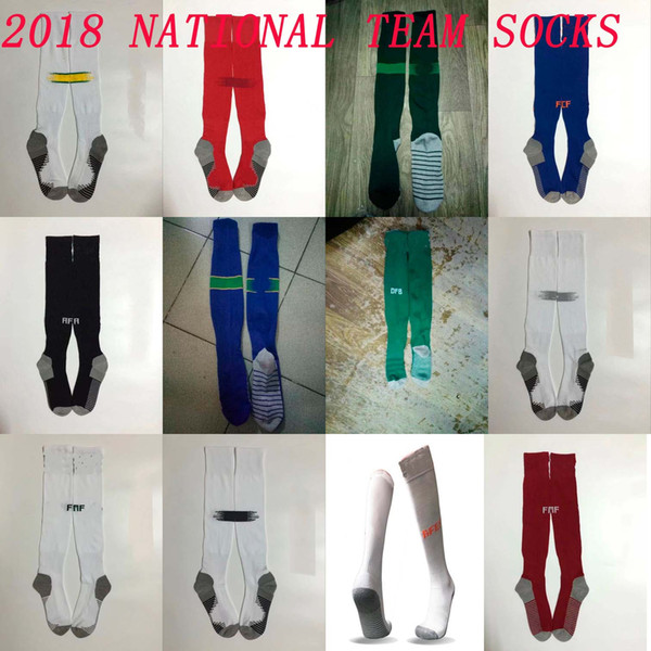 2018 Belguim Soccer socks Knee High cotton football stocking Mexico home away sport socks Thicken Towel Bottom 18 19 National team long hose