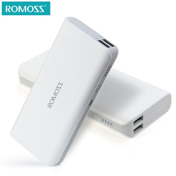 10400mAh ROMOSS Sense 4 Power Bank 2.1A Fast Charging Dual USB Output Portable Charger External Battery Pack For Phone Tablet