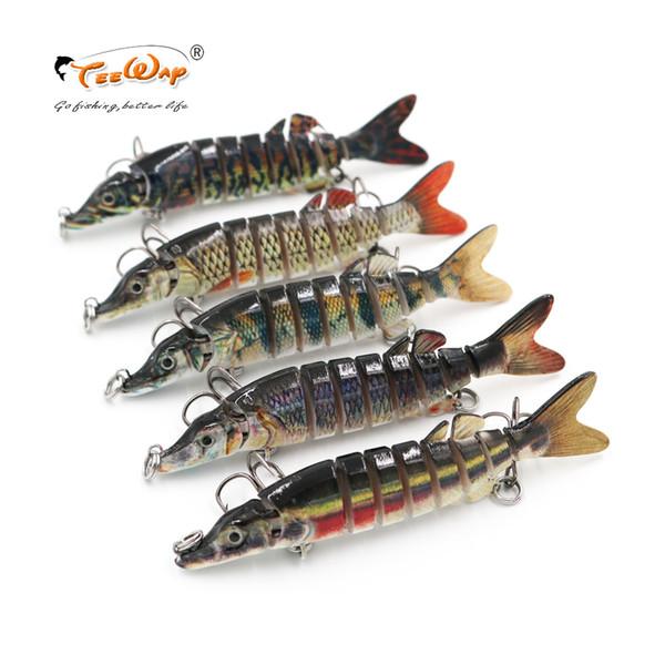 9 см 7 г рыболовные приманки 9 сегментов Swimbait воблер рыболовные приманки жесткий Bait с искусственные крючки рыболовные воблеры