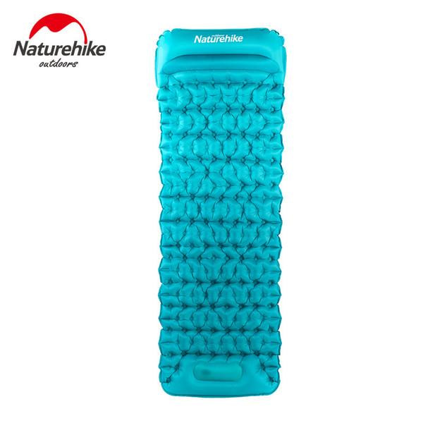 naturehike hand press Inflatable TPU Cushion Ultralight Camping Mat 20D Nylon Tent Air Mattress Outdoor Patent Sleeping Pads