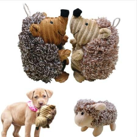 Köpek Squeak Ses Oyuncak Interaktif Peluş Köpek Oyuncaklar Pet Chew Oyuncaklar için Samll Büyük Köpekler Komik Eğitim oyna jouet chien