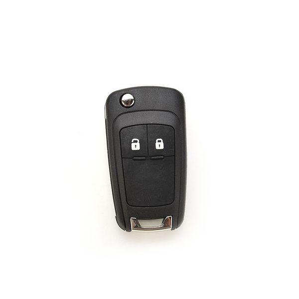 JETTING Black Flip Llave plegable plegable para Cruze ABS 66mm Llave remota Case Keyless Fob 3 botones (bloqueo / desbloqueo / maletero)