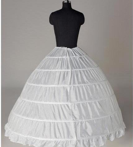 2018 a la venta más nuevo Gorgeous Ball vestido blanco 6 HOOP PETTICOAT crinolina SLIP Underskirt vestido de boda de novias barato PT006