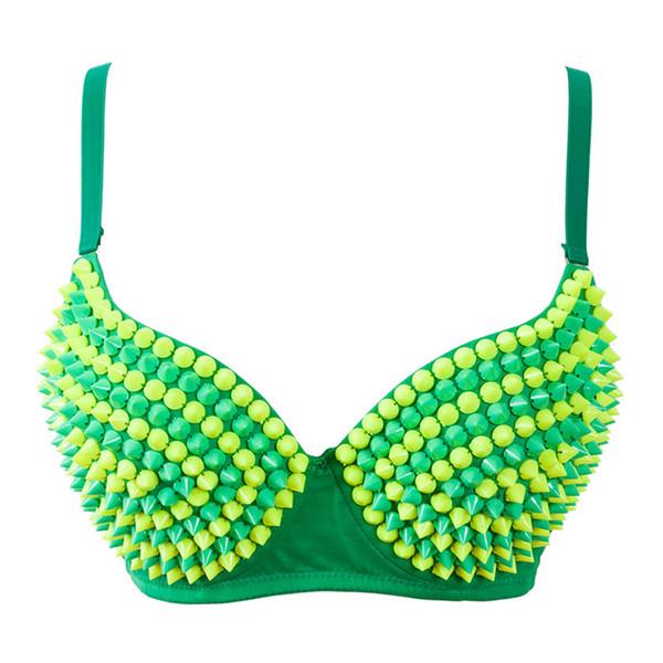 Brilhante Estágio Verde Beading Sutiãs de Cristal Boate Sutiã Cueca DJ Sexy Dança Do Ventre DS Trajes de Dança de Palco Desgaste das Mulheres Nova Moda