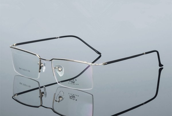 Newest male ultra-light glasses contracted half-rim memory frame 6341 for prescription glasses comfortable wearing gold silverfactory outlet