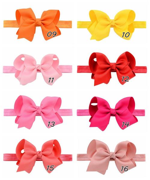 Newborn Baby Headbands Elastic Headband Children Hair Bows Accessories Kids Cute Hairbands for Girls Bow Headwear Headdress Wholesale