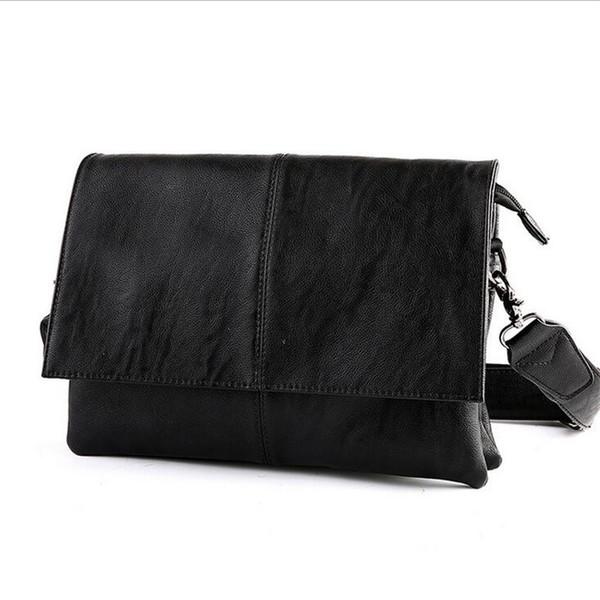 2017 Fashion Shoulder Bags for Men Messenger Bags Leather Genuine Corssbody Casual Mens Vintage Bag Black High Quality