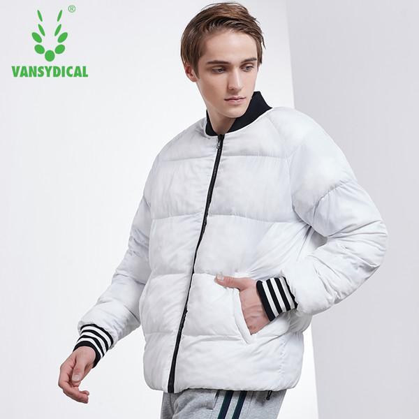 SPTVansydical Winter Warm Sports Baumwollmantel Herren Schwarz Weiß Reversible Wear Windproof Sportswear Tops Workout Laufjacken