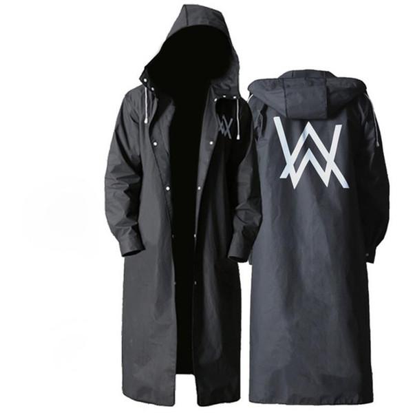 best selling Long Raincoat Women Men Waterproof Travel Portable Backpack Raincoat Section Tide Waterproof Trench Coat Hooded Rain coat Je