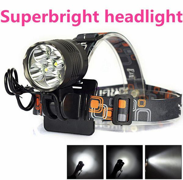 2-IN-1 Lampe frontale 10000 Lumen XML 5x T6 LED Vélo Vélo Lumière Lampe Camping lanterna Led Phare Pour Vélo linterna frontal