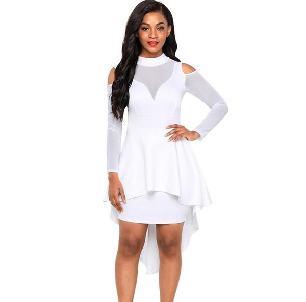 ec080c93e093a Ücretsiz kargo moda Büyütme kodu kadın giyim Ekleme Yüksek yaka Uzun kollu  Kırlangıç etek