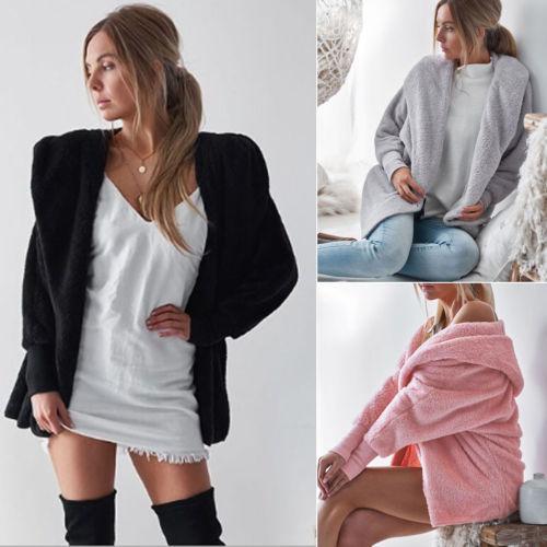 2018 New Fashion Hot Sexy Charming Women Lapel Wool Cashmere Coat Jacket Long Parka Overcoat Outwear Hooded