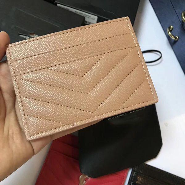 Novas Mulheres Moda Design Clássico Casual ID Titular do Cartão de Crédito Hiqh Qualidade Real de Couro Magro Carteira Saco de Pacote Para A Mulher S302