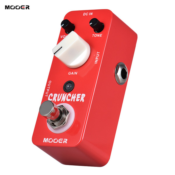 MOOER CRUNCHER High Gain Distortion Guitar Effect Pedal True Bypass Full Metal Shell