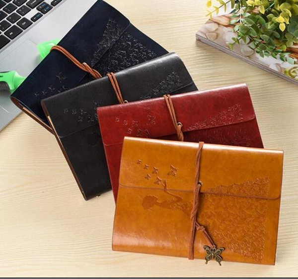 Vintage Butterfly Bandage Notepad Multi Color Travel Diary Book Creative PU Leather Notebook