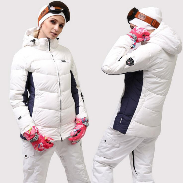 겨울 스키 복 여성 브랜드 2018 고품질 열 스키 재킷 스노우 바지 따뜻한 방수 방풍 스키 스노우 보드 정장 스키 세트