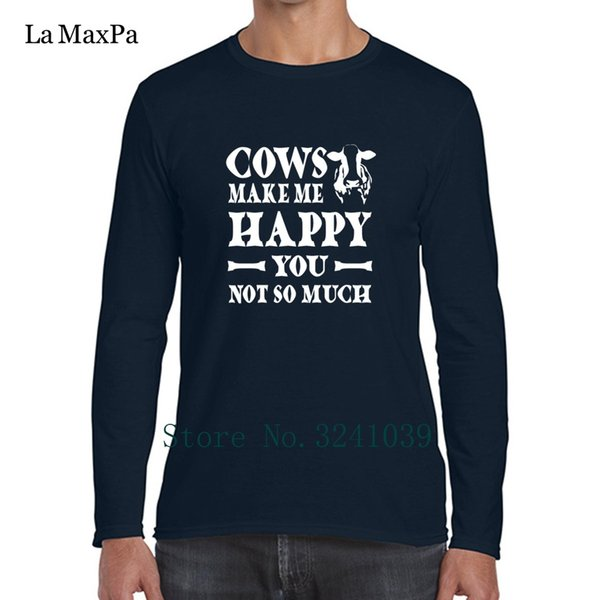 Cows Make Me Happy You,Not So Much T-Shirt for Mens