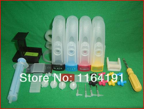 4Color CISS kit with accessaries ink tank for 301 ink cartridge HP301  DeskJet 1050 2050 3050 2150 3150 1010 1510 2540 Printer