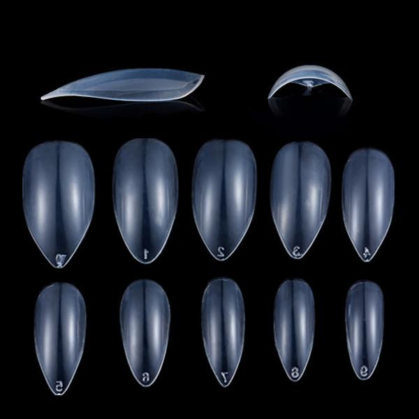 600pcs/pack Drop Shape Transparent False Nail Tips Color Card Practice Display Tool False Nail Manicure Art Tools