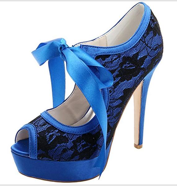 Женская обувь Европейский и американский элегантный кружева сапоги на высоком каблуке платформа женская обувь атласные ремни банкетный свадебные туфли мода Стилет