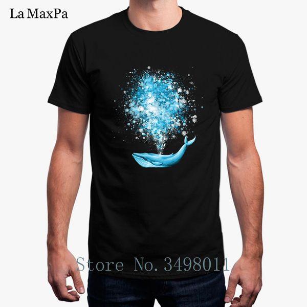 Cheap Whale Acuarela Splatter Celebration Camiseta de los hombres Summer Round Collar Tshirt Mens Unisex Camiseta Hombres