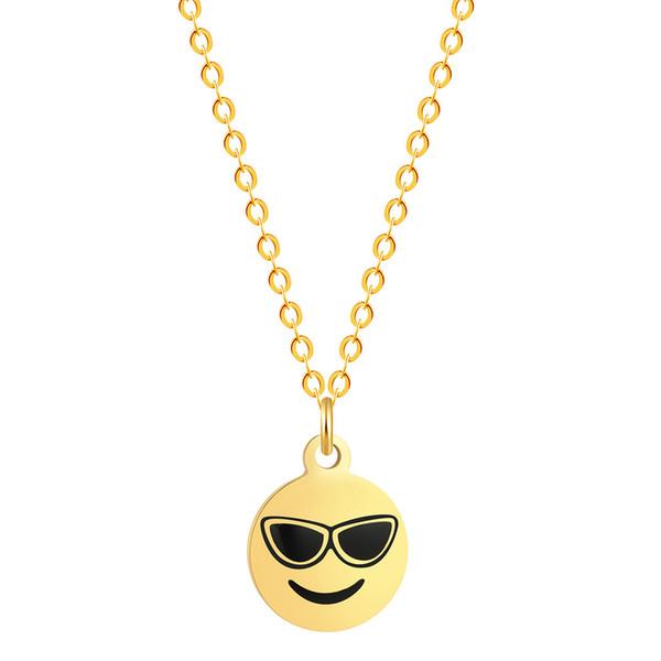 Nouveau QQ Pendentif Emoji Porte-clés Emoji Pendentif Emotion QQ Expression Smiley Face Collier Smile Porte-clés Bijoux JP02