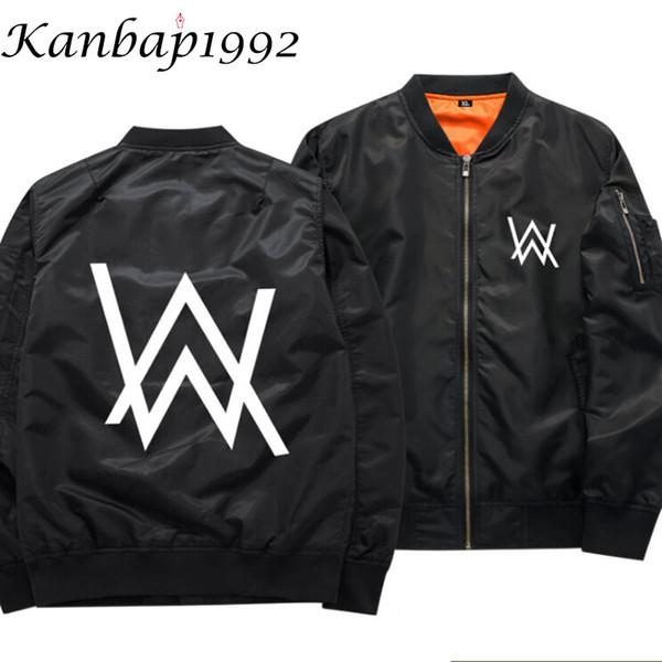 Kanbap1992 DJ Faded Alan walker hoodie men hip hop chaqueta chandal rock star jackets army green thin zipper bomber jacket