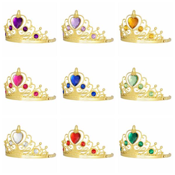 Дети Принцесса Тиары Замороженные дети Золото Алмазная корона Rhinestone Halloween Cosplay Аксессуары для волос Рождественский подарок для вечеринок 1200pcs AAA951