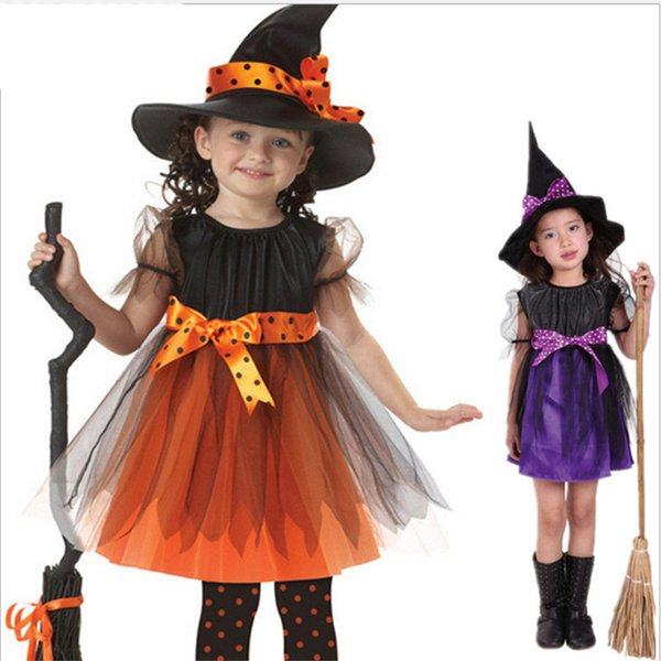 Kids Clothing Cute Kid Halloween Performance Costume Cap Wizard Witch Hat Halloween Party Cosplay Props Hats Children Clacks Clothes