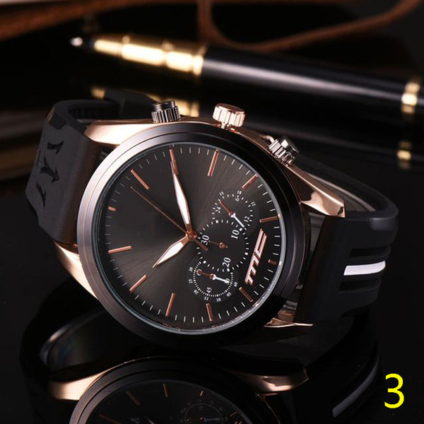 Fashion Mens Sport Wrist Watch Top Brand maserati Rubber Strap Quartz Movement Gift Time Clock Wacth Relojes Hombre Horloge Orologio 10pcs