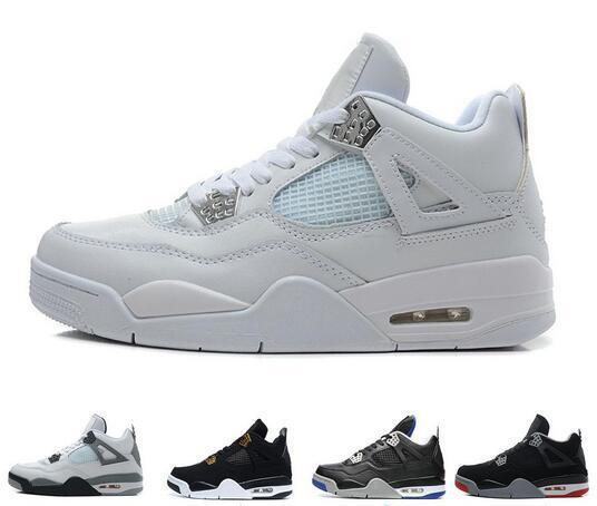 9e51f243be3107 Best 4 4s men basketball shoes Black Cat bred White Cement Royalty Pure  Money Fire Red
