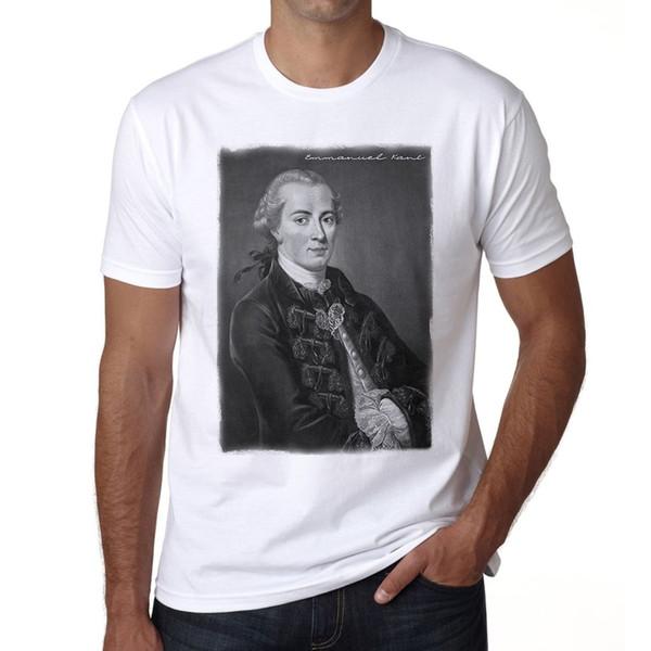 Эммануэль Кант H футболка Homme футболка Бесплатная доставка досуг мода лето мужчины с коротким рукавом печати горячие дешевые высокое качество тройники