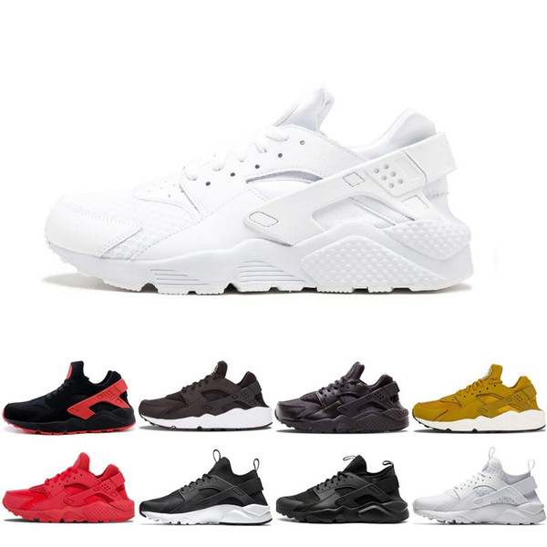 2019 Hot Sale Online Huarache Running Shoes For Men Women Rose Gold Best Quality Sneakers Triple Discount Huaraches Trainers Sport Shoes