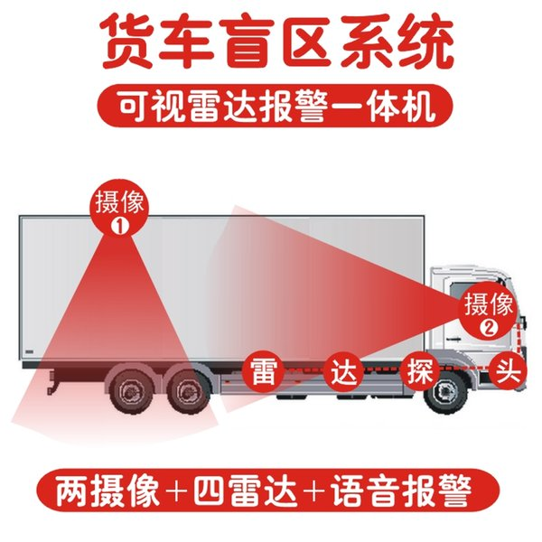12V-24V truck blind spot detection truck parking sensor reverse camera 7inch monitor waterproof all condition design car