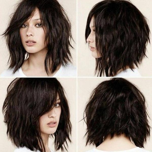 Parrucca corta bob sintetica ondulata resistente al calore ondulata ondulata parrucca riccia ondulata da 13 pollici ZhiFan per donne nere