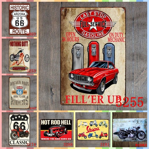 FULL SERVECE Metal Tin Signs 20*30cm Room Home Decor Bedroom Wall Picture Decoration Painting Crafts Supplies Poster Kitchen Accessories
