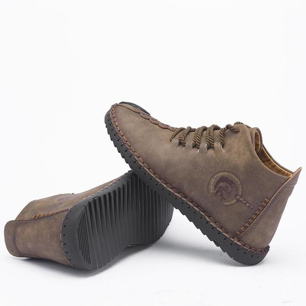 1d79806f Zapatos cómodos para hombre Botines de calidad Zapatos de cuero partidos Hombre  Botas para la nieve