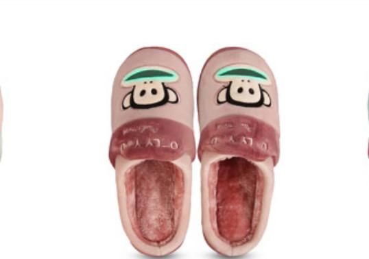 2017popular big mouth monkey Pa ul Fr ank home simple comfortable, thick bottomed fashionable plush warm cotton slippers