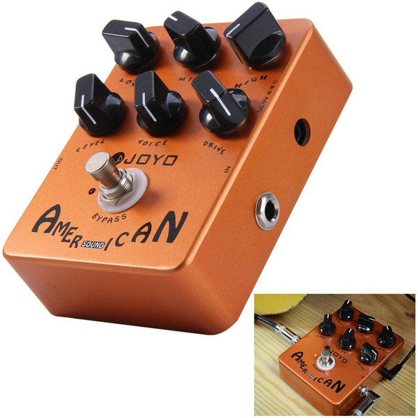 JOYO True Bypass Design American Sound Amp Simulator Electric Guitar Effect Pedal Distortion Pedal VOX Fander Marshall MESA Boogie Amplifier